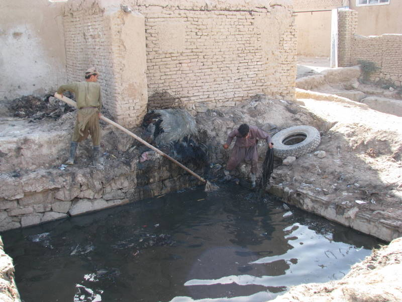 Natural Goat Leather Tanning Process in Northern Afghanistan