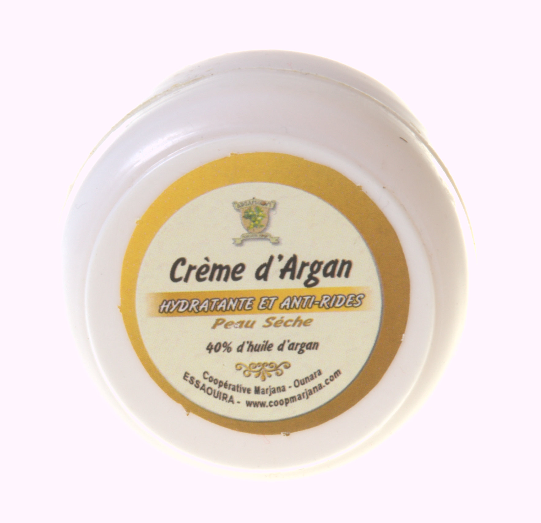 Organic argan oil facial cream for dry skins
