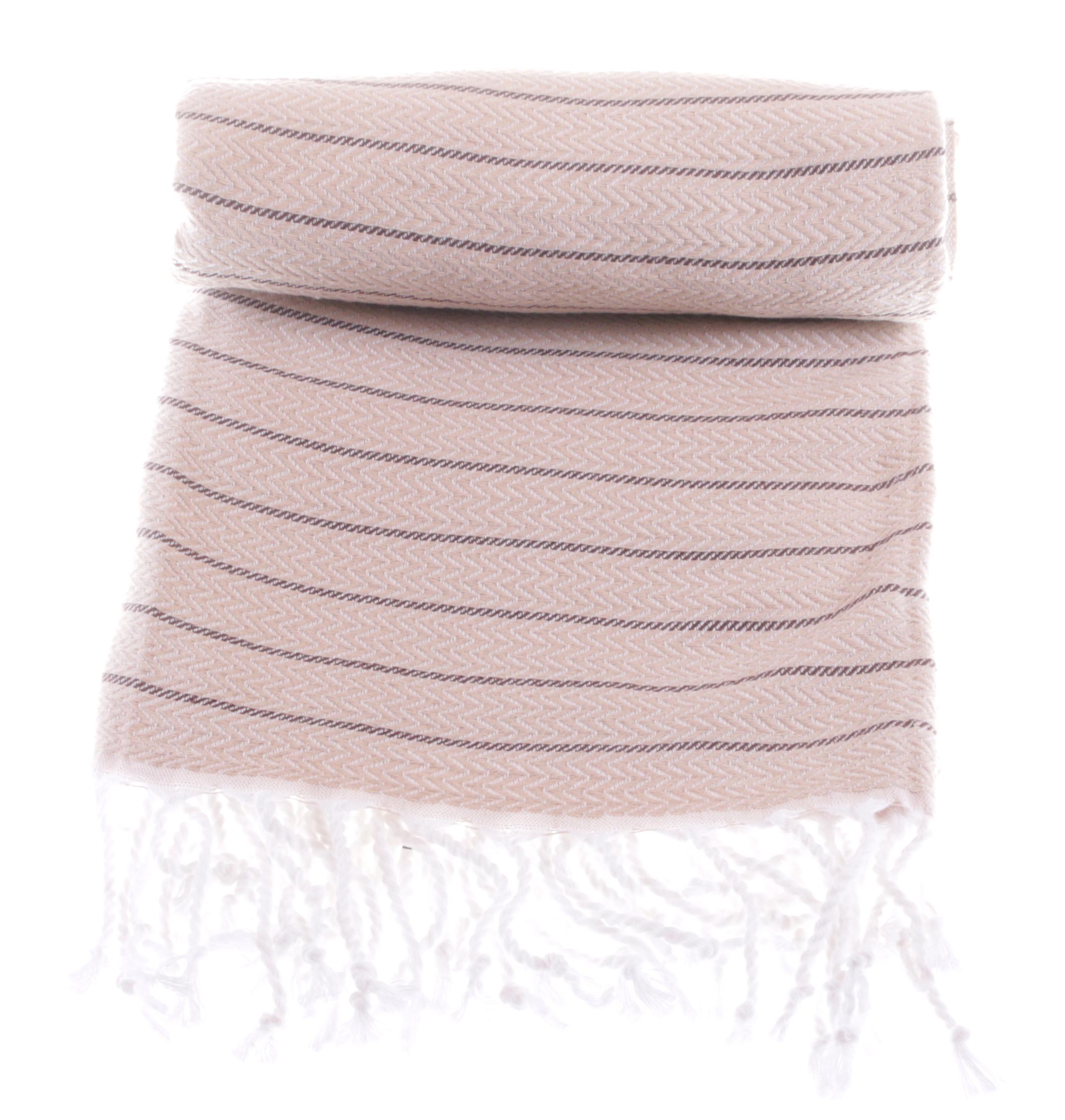 cotton towel in beige