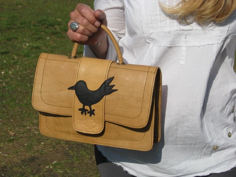 Gundara - Bird Bag - handbag - pure leather - made in Afghanistan