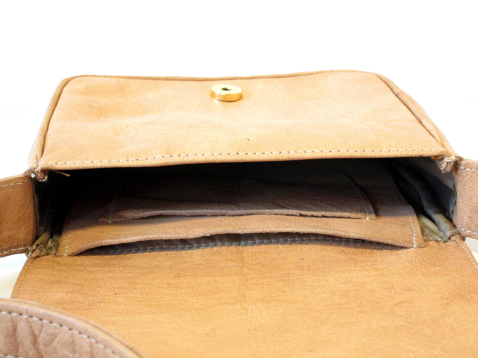 leather bag withlining and inside pockets - Gundara