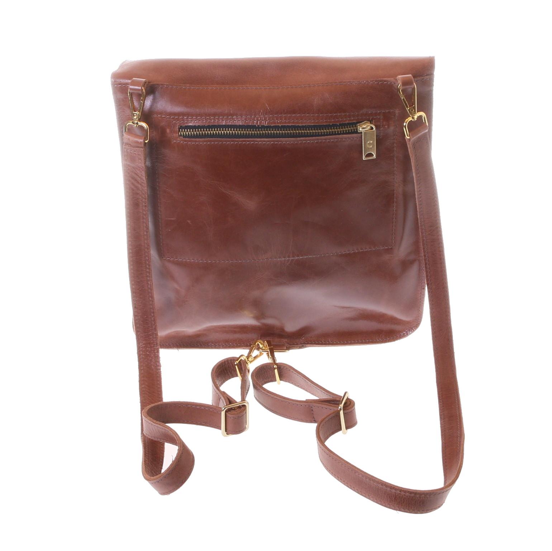 Gundara - fair handbag - reversible into backpack - coew hide - handmade in Ethiopia