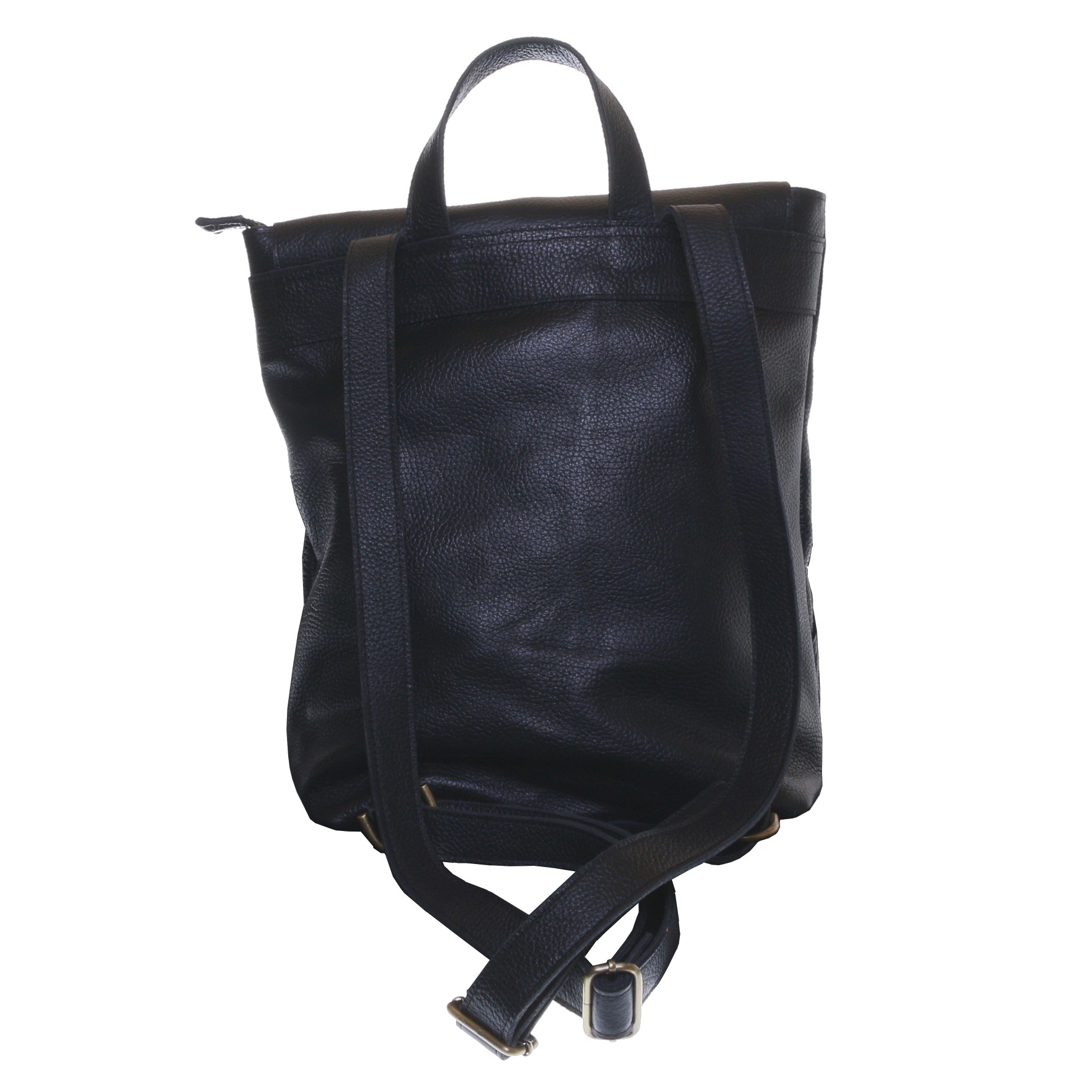 Gundara - laptop backpack - genuine cow leather from Ethiopia - handmade