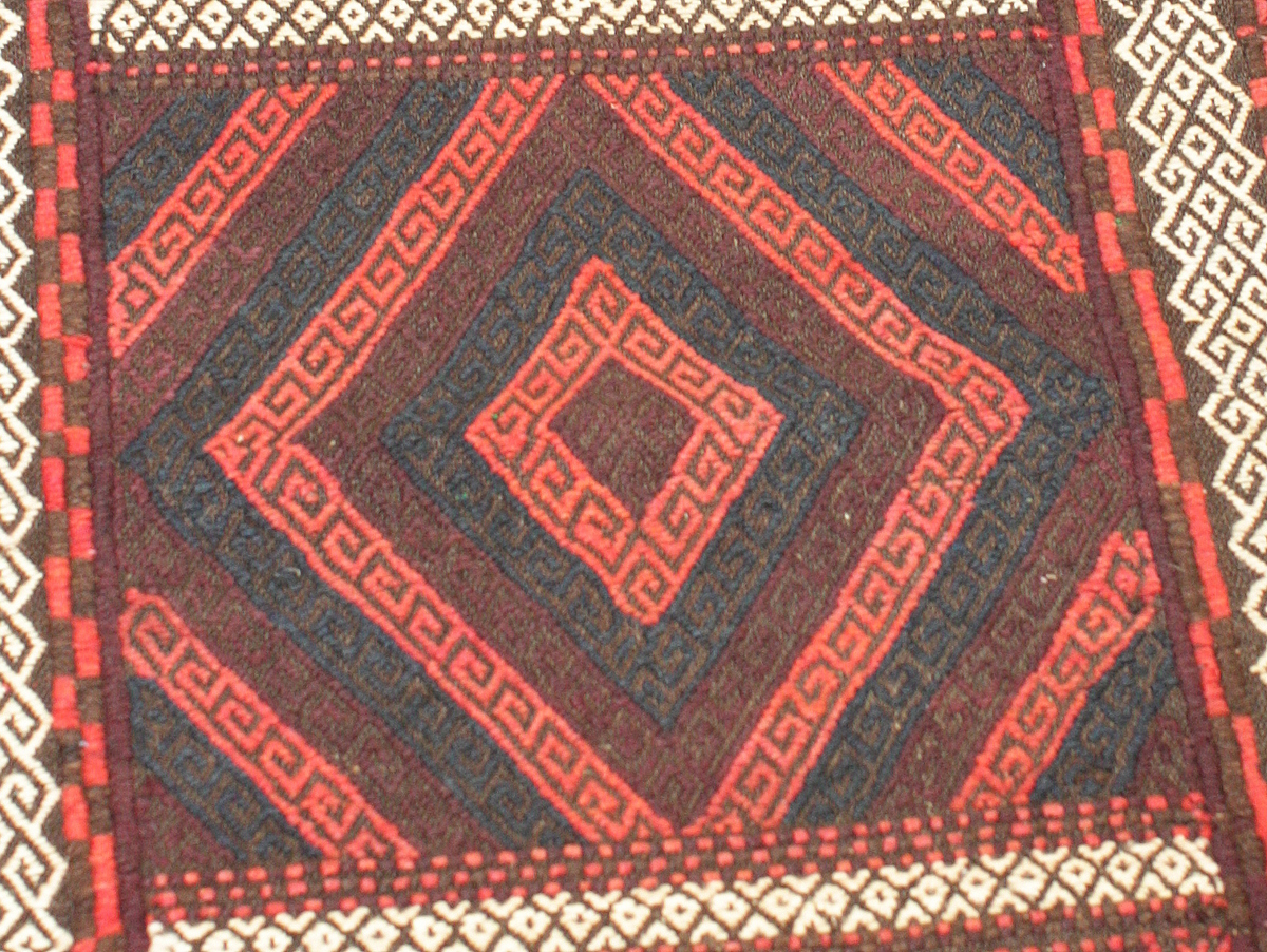 red pattern detail