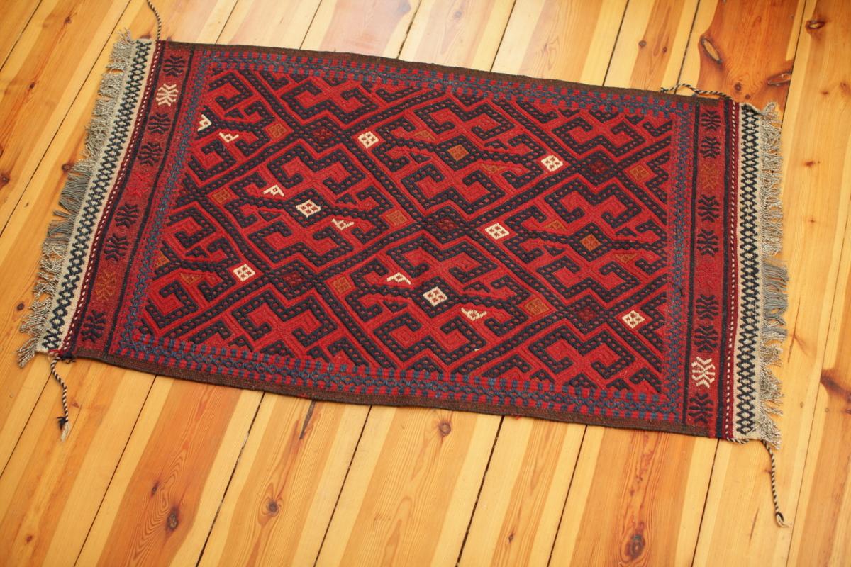 Klassischer Susani-Teppich - handgeknüpft - Hauch von Seidenstraße - Wolle