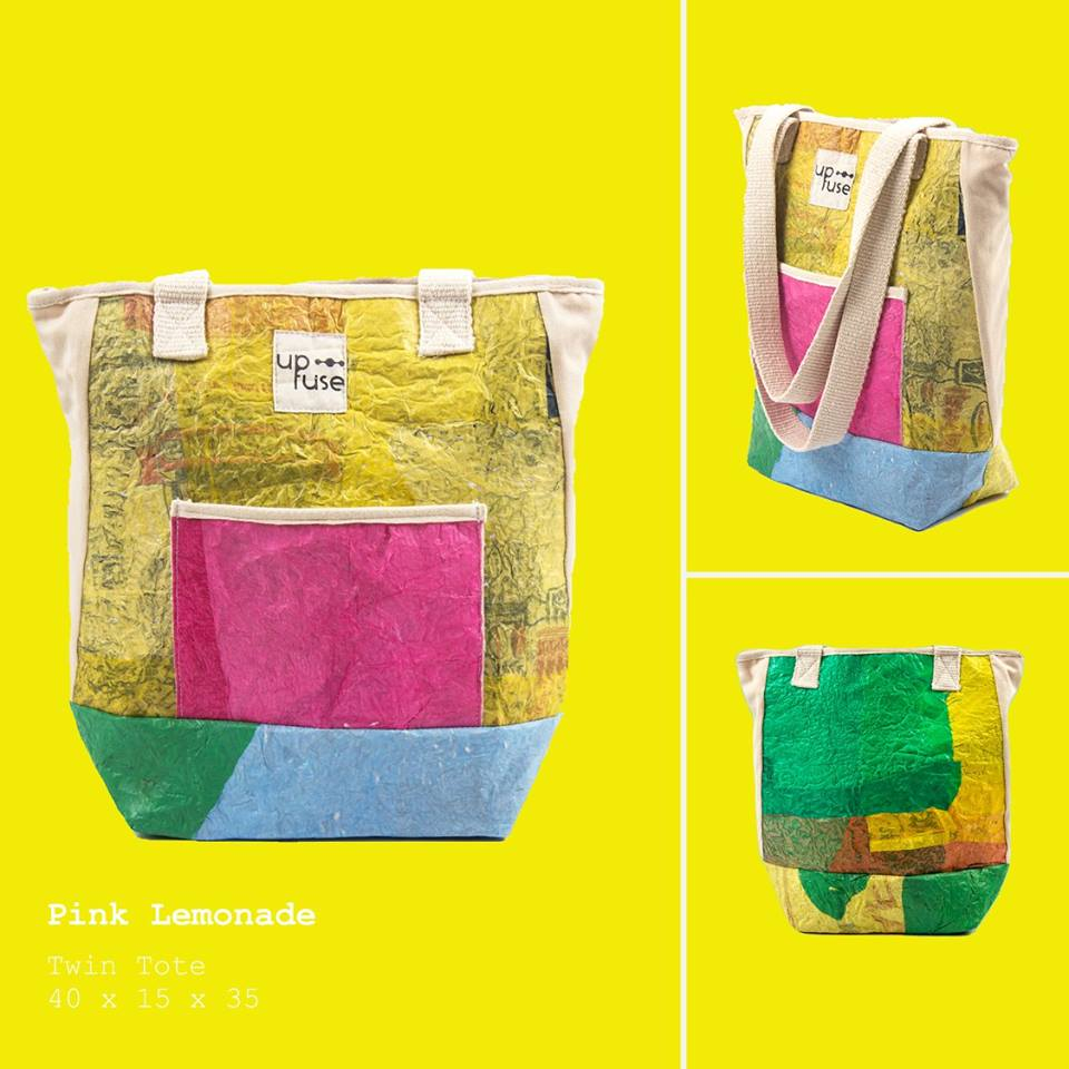 Up-fuse - funky tote - colorful upcycling bag from Gundara - handmade & fair in Cairo