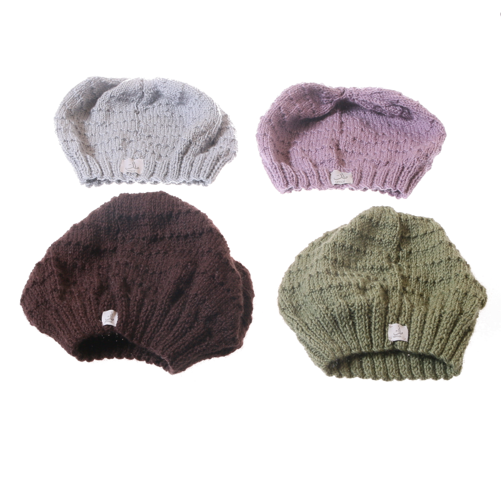 beanies by Syrian refugees - Amal Project
