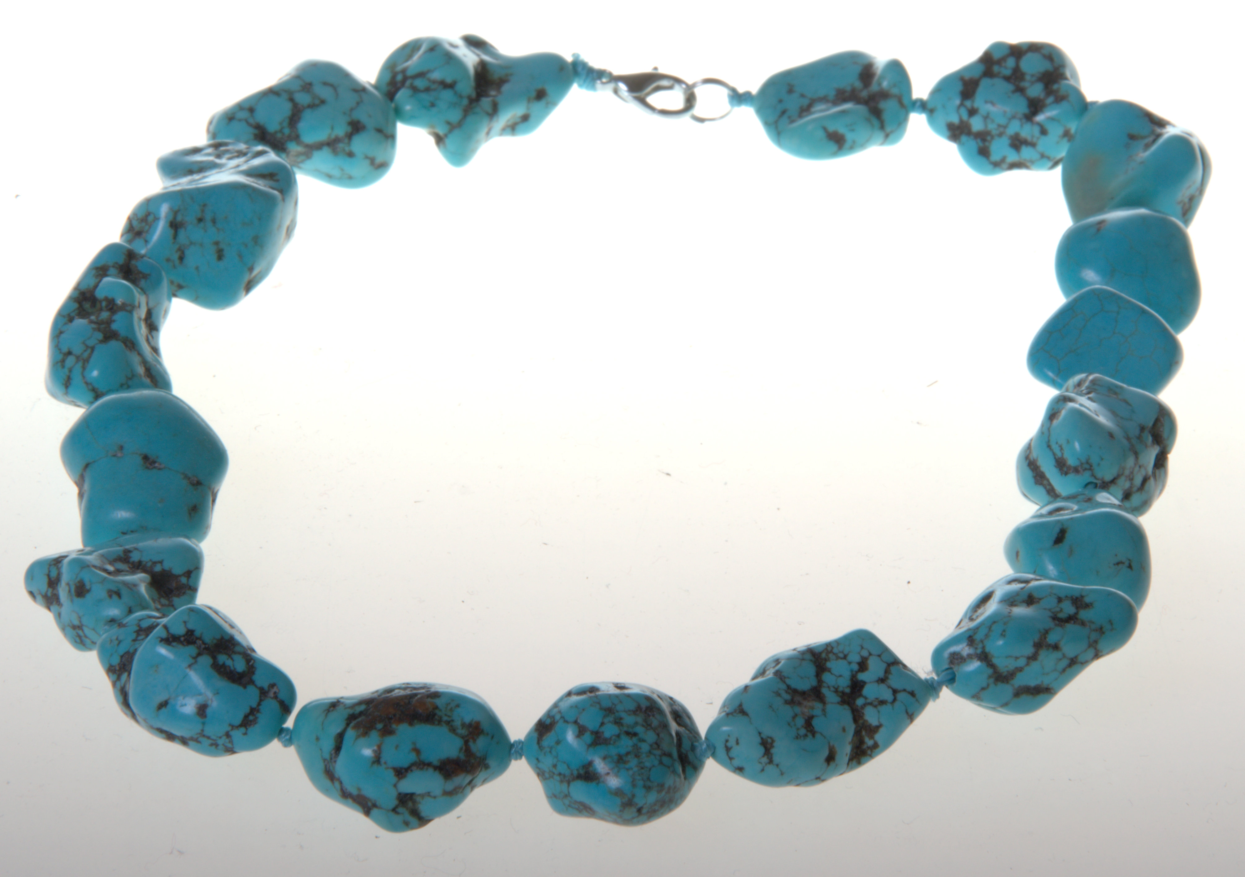 Beautiful Necklace from Tajikistan with Natural Turquoises