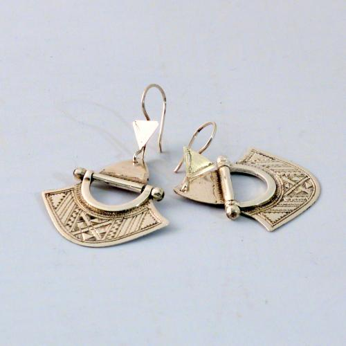 Silver earrings - handmade by a Tuareg tribe in Niger - fine handwork - Gundara