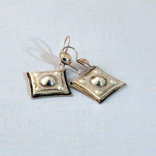 Silver earrings - Tuareg design - handmade in Niger - pure silver - Gundara