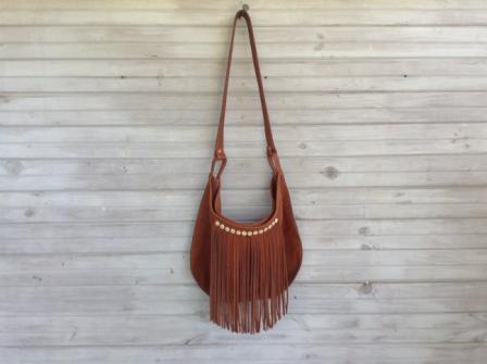 mini moon leather bag from the bush