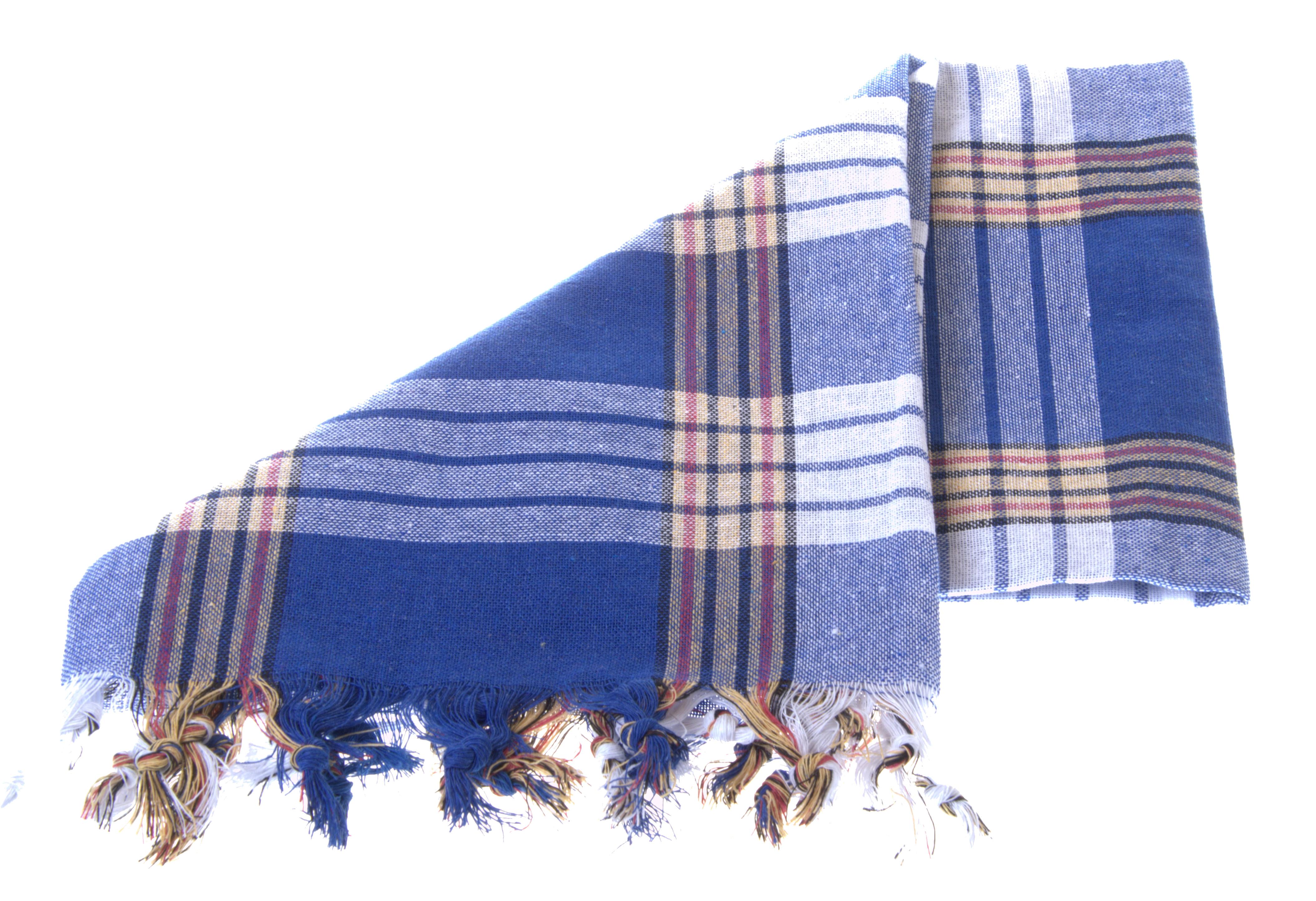 blue and white pestemal