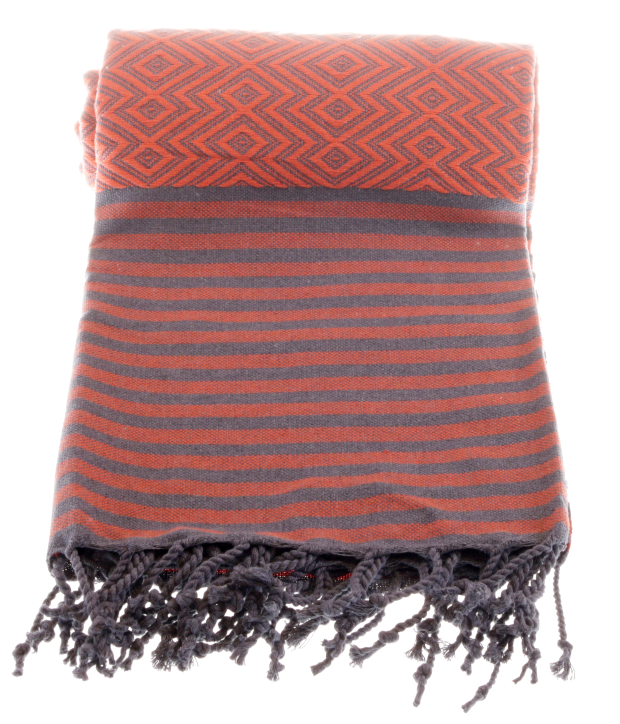 orange grey hammam clothe
