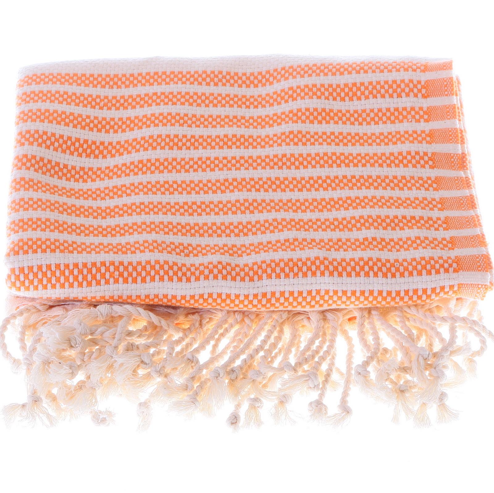 Marmara style 100% cotton hammam towel in orange
