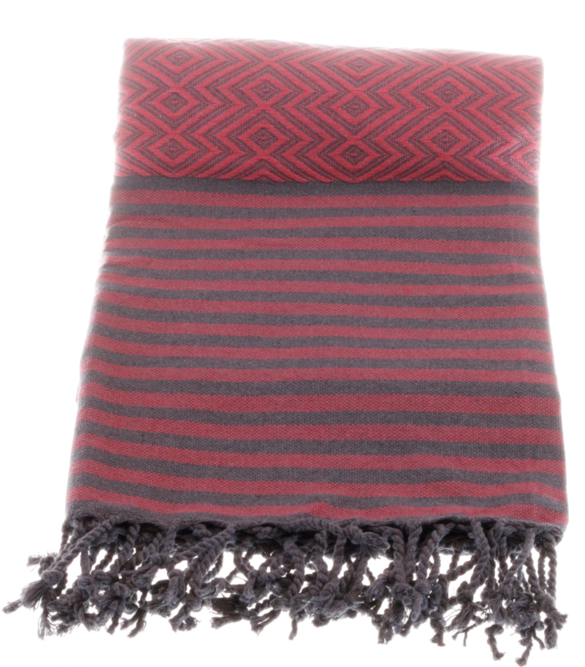 pink grey killim style hammam clothe