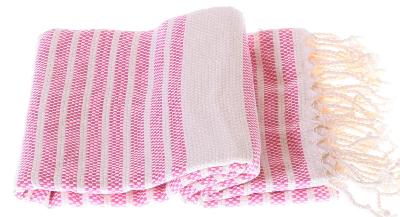 Marmara style 100% cotton hammam towel in pink
