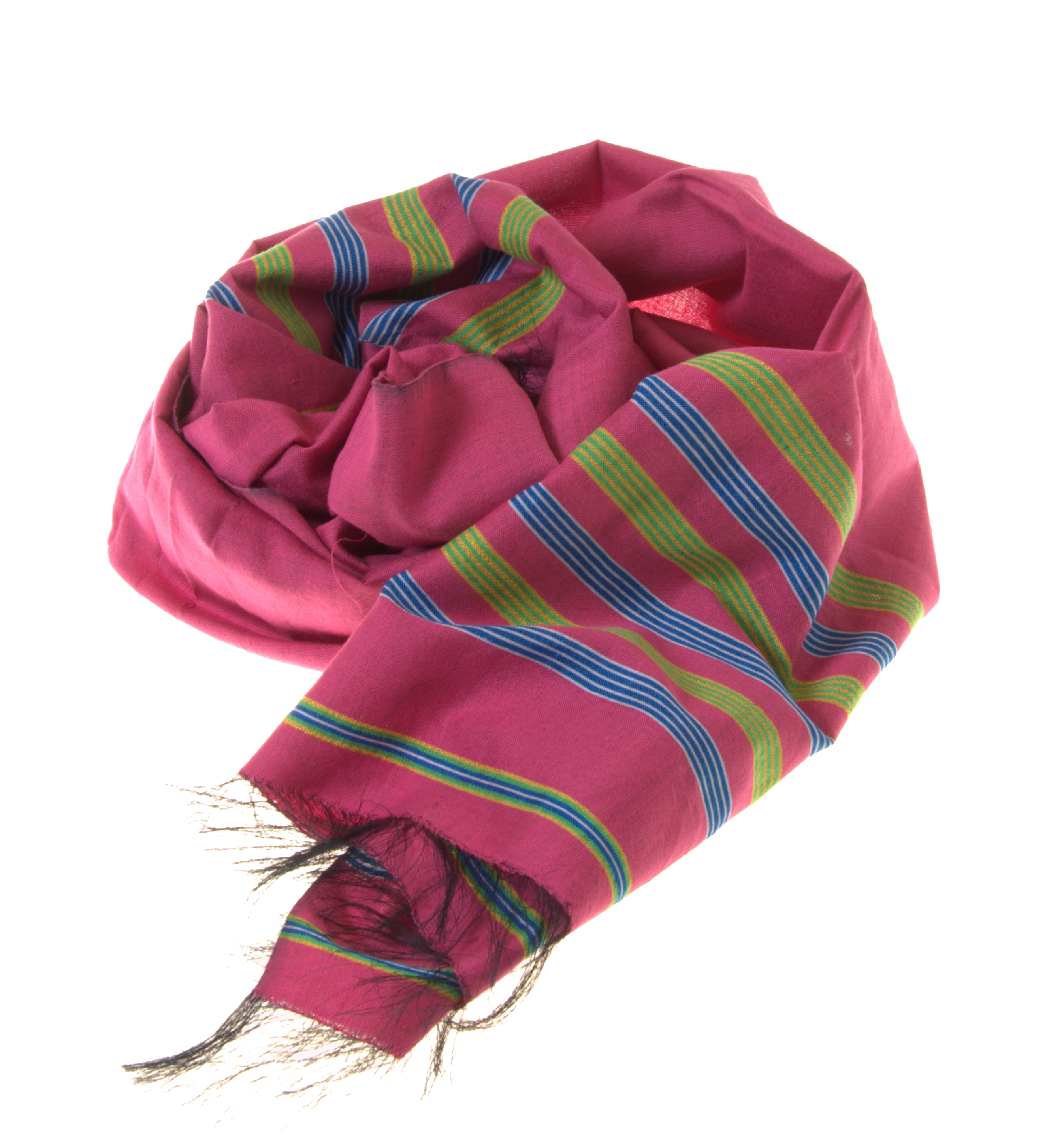 Pink Colour Handmade Silk-Cotton Scarf
