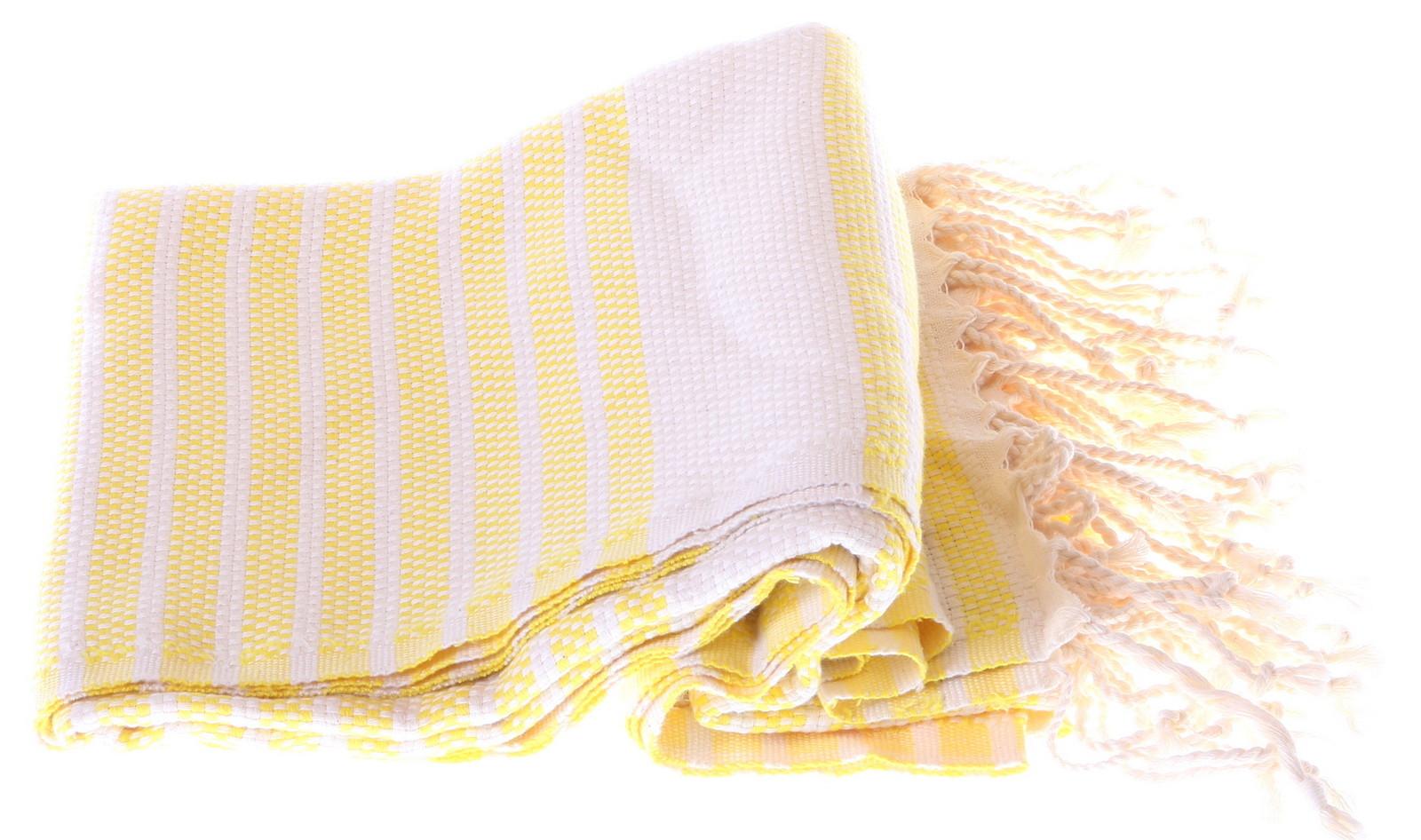 Marmara style 100% cotton hammam towel in yellow