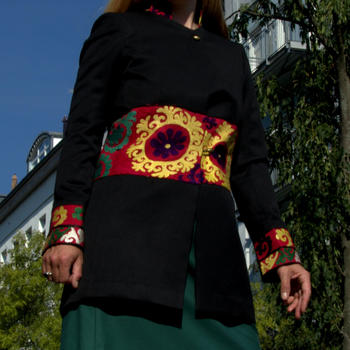 Gundara Design - long jacket - beautiful Afghan embroidery