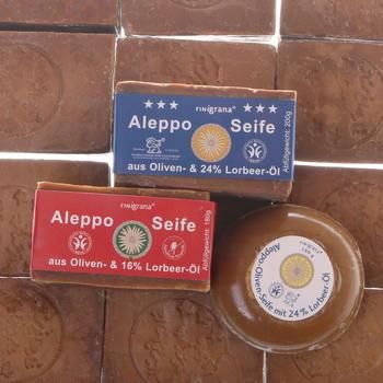 Traditionelle Aleppo Seife mit Lörbeeröl