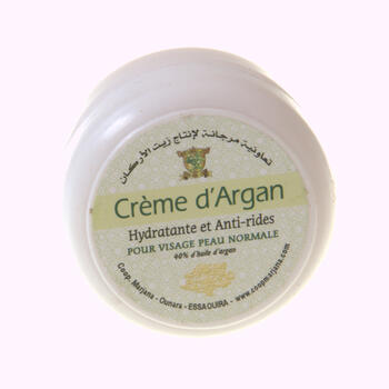 Organic argan oil facial cream