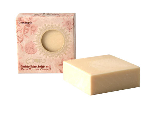 Ottoman - olive oil soap - pomegranate - made in Turkey - no artificial fragrances or animal fats