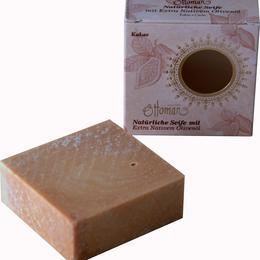 Naturseife - mit Olivenöl und Kakao-Duft - für alle Hauttypen - handgeschnitten