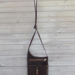 Brown Crossbody Passport Bag