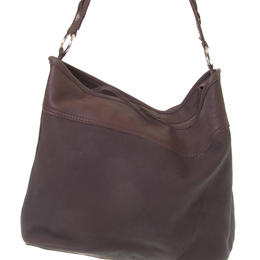 Carla chocolate colour leather bag