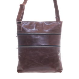 Gundara - fair leather side bag - genuine cow leather - handmade in Ethiopia