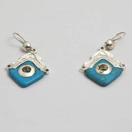 Boucles d'Oreille en Argent et turquoise