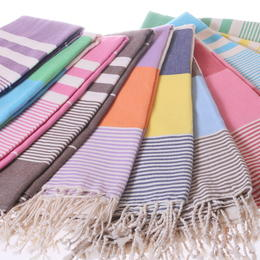 simple colourful hammam towels