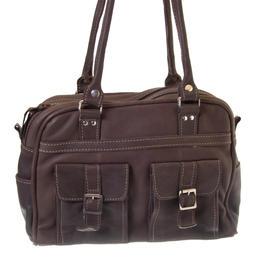 Tanya - Chocolate colour fair trade bag