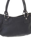 fida zipper closed bag in black leather